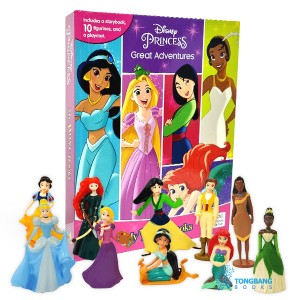 My Busy Books : Disney Princess Great Adventures (10 Figures/Board book)